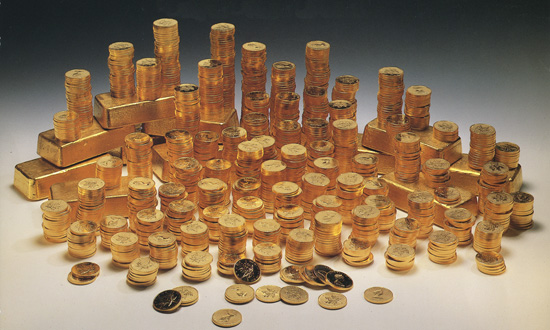 1500 Canadian Gold Maple Leaf & 15 - 100 oz. Bars
